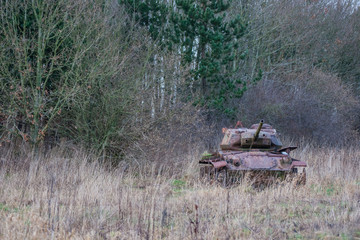 Tank in the nature