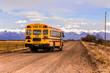 Leinwanddruck Bild - Yellow School Bus