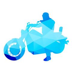 Biker on a chopper. Abstract vector illustration