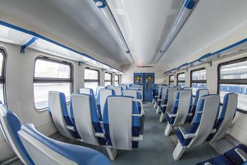 Interior of the car of a regional train