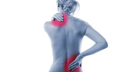 Frau Körper Rücken Schmerz