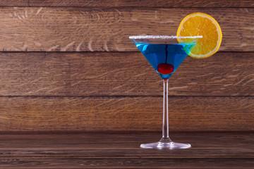 Blue Lagoon Margarita Cocktail