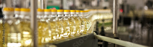Papiers peints Condiment Factory for the production of edible oils. Shallow DOFF.