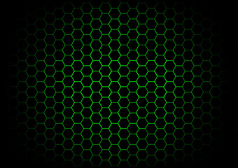 abstract hexagon dark green background