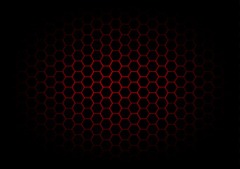 abstract hexagon dark red background