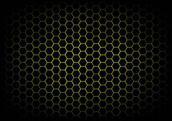 abstract hexagon dark yellow background