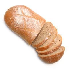 Laib Brot geschnitten