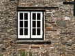 canvas print picture - Window in an old house in Tintagel, Cornwall