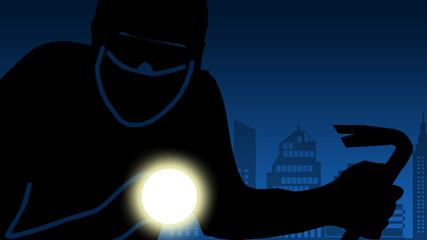 bi12 BurglarIcon - burglar with crowbar 2 - 16to9 g3075