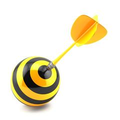 Dart in center of target