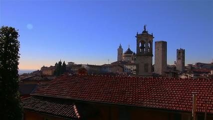 Panorama of Bergamo, Italy.