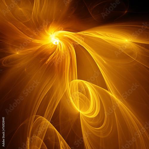 Fraktal Flammen im Weltraum