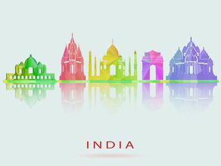 India skyline. Vector illustration. eps10
