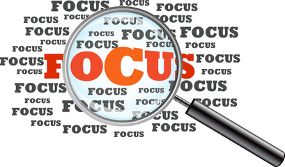 Focus. Magnifying Glass