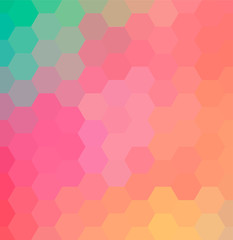 Abstract hexagon background. Colorful geometric background