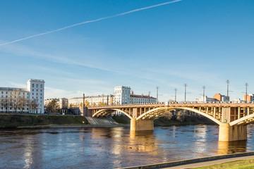 city. bridge. river.