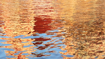 Water motion ripple effect reflection spring autumn colours