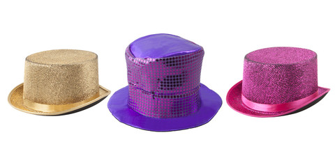 Party colored top-hats