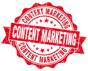 content marketing red vintage isolated seal