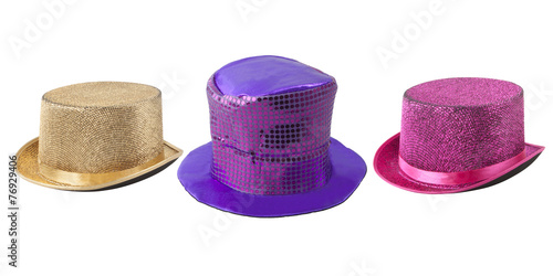Party colored top-hats - 76929406