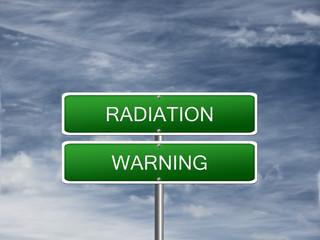 Radiation Warning Alert Sign