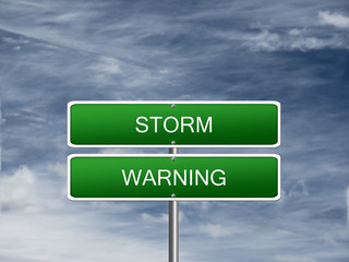 Storm Warning Alert Sign