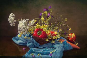 Flores y vegetales
