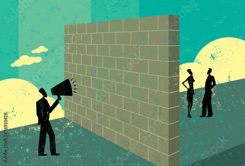 Shouting at a brickwall - 76930478