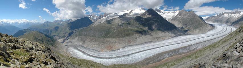 Grosser Aletschgletscher - Ewiges Eis, schroffe Berge