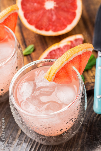 Grapefruit cocktail Poster