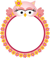 Owl with Flower Frame