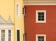 Bunte Haus Front Fassade