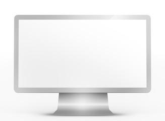 Televisore isolato su bianco