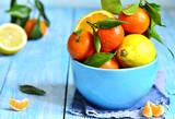 Citrus fruit in a bowl.