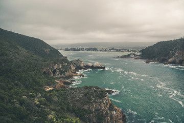 The heads entrance from the indian ocean to the bay of Knysna. W