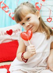 girl with lollipop