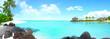 Leinwanddruck Bild - Beautiful island with clear water
