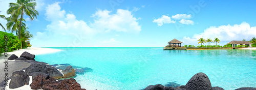Poster Eiland Beautiful island with clear water