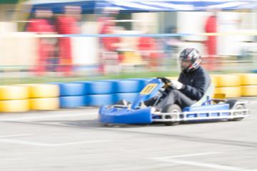 race go-kart blur