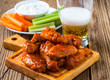 Buffalo chicken wing with cayenne pepper  sauce