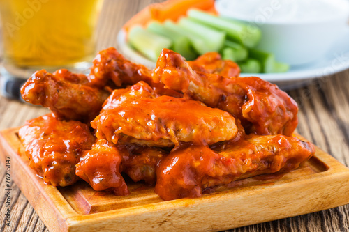 Buffalo chicken wing with cayenne pepper  sauce - 76935847