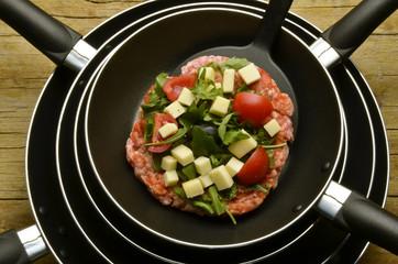 Pizza di meat y gemüse