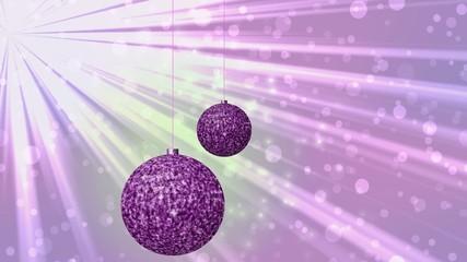 Christmas balls generated seamless loop video