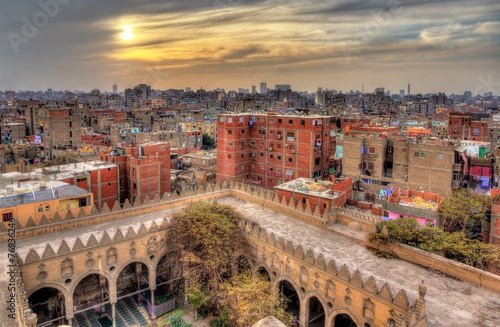 Poster View of Cairo from roof of Amir al-Maridani mosque - Egypt