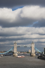 Tower Bridge in the cloudy day