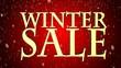 Seasonal winter sale  winter sale falling snowflakes