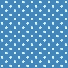 White spotted blue fabric.