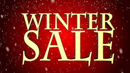 Seasonal winter sale  winter sale falling snowflakes