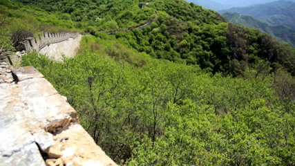 Landscape Great Wall of China forest disrepair Mutianyu
