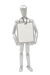 Model mannequin man isolated on white background